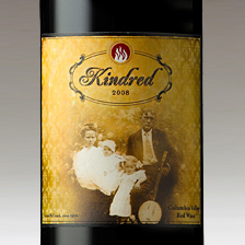 KINDRED WINE LABEL