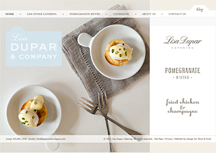 CATERING & RESTAURANT WEBSITE, BLOG, CONTENT MANAGEMENT