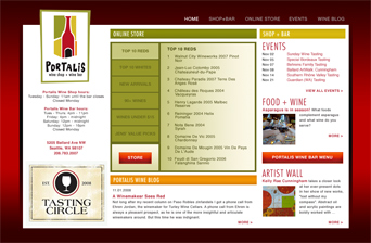 WINE BAR & RETAIL WEBSITE, CONTENT MANAGEMENT, ECOMMERCE
